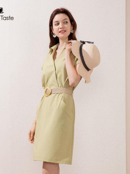 郁香菲女装品牌2020春夏垂感H版连衣裙中长款透气通勤百搭休闲女裙