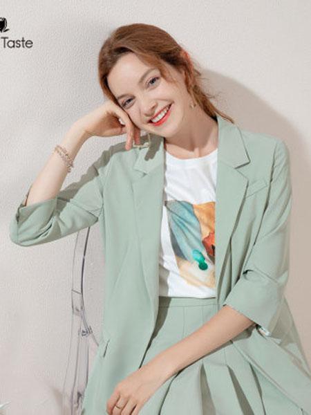 郁香菲女装品牌2020春夏糖果色系简约ins小西装女碎花翻边袖气质外套