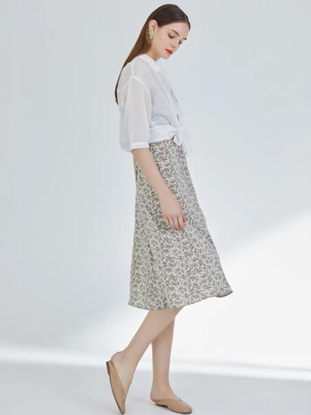 天使韩城TSHC女装品牌2020春夏白色雪纺衫