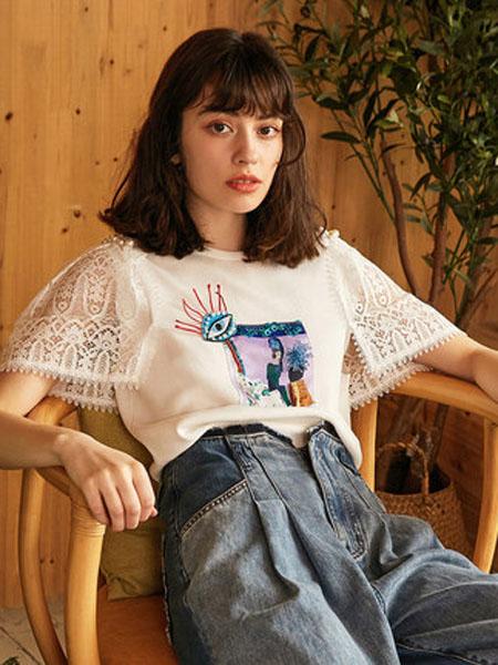 米可芭娜女装品牌2020春夏牛角袖冰丝针织衫印花茧型套头网红上衣2020年夏季新款