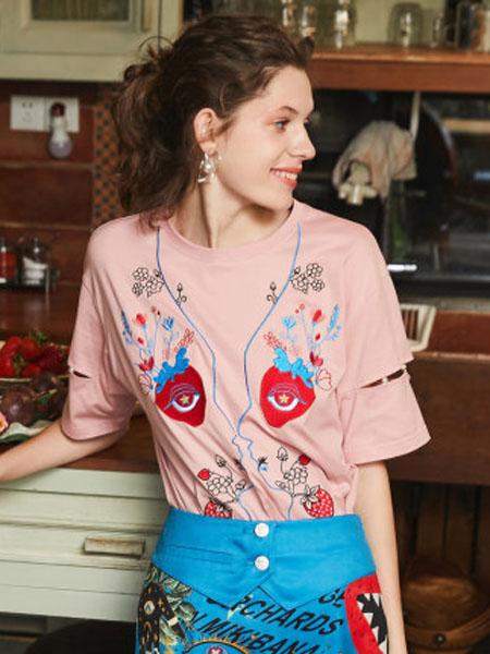 米可芭娜女装品牌2020春夏短袖T恤女ins潮打底衫百搭2020年夏季新款