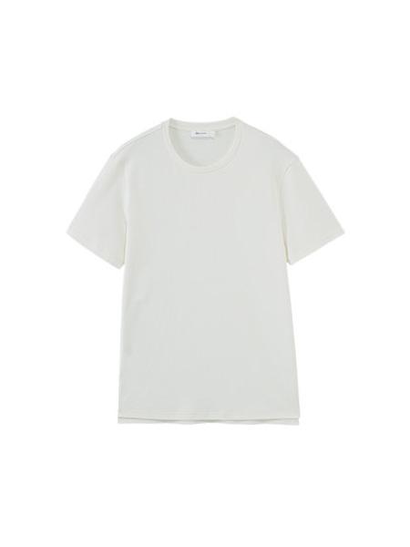NEIWAI内外内衣品牌2020春夏男士睡衣单件居家上衣短袖T恤自然卷边休闲可外穿