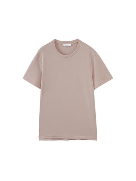NEIWAI内外内衣品牌2020春夏基础圆领T恤睡衣家居服上衣纯棉简约透气挺括