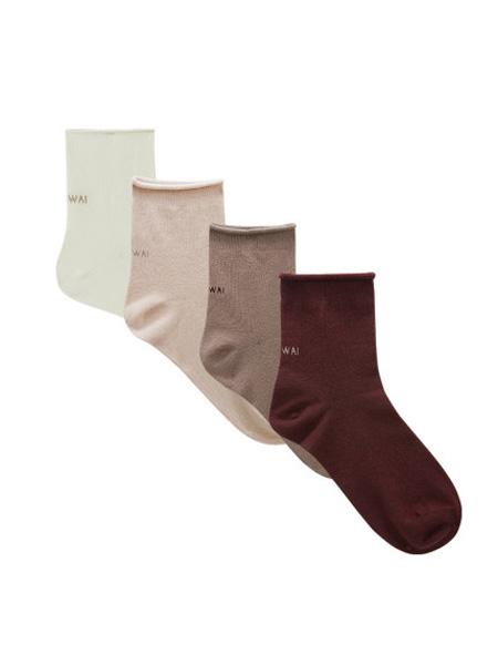 NEIWAI内外内衣品牌2020春夏3双装   男女短筒高筒袜春夏弹力耐穿棉袜简约易搭配