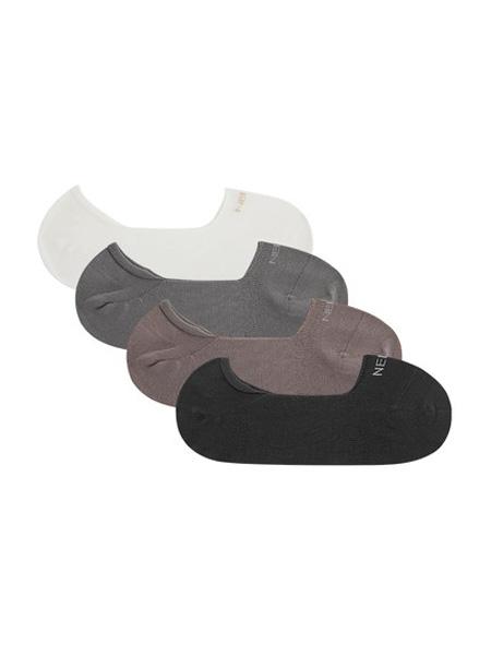NEIWAI内外内衣品牌2020春夏4双装 | 女袜/男袜防滑防掉跟棉透气袜子船袜春夏