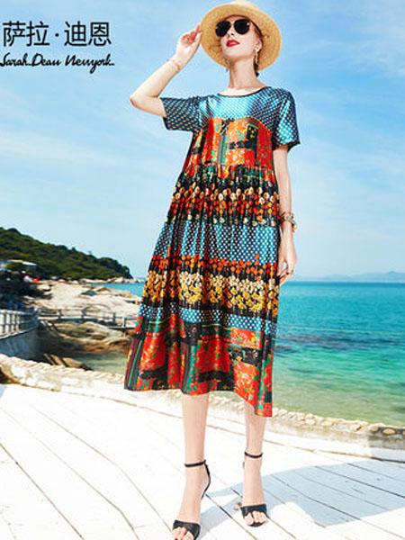 萨拉迪恩女装品牌2020春夏超重磅桑蚕丝连衣裙夏2020年新款杭州大牌长款妈妈遮肚宽松真丝裙