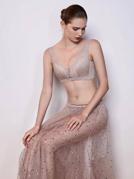 艾慕am女装品牌2020春夏灰色文胸内衣