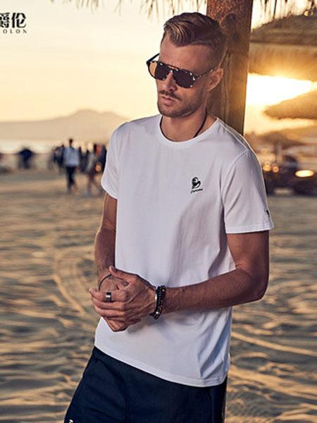 英爵伦男装品牌2020春夏男装十二星座刺绣短袖T恤男青年情侣装