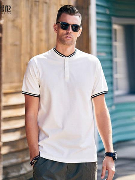 英爵伦男装品牌2020春夏条纹 简约短袖T恤 潮牌2020夏季撞色半袖POLO衫