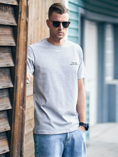 英爵伦男装品牌2020春夏韩版潮流字母刺绣印花短袖T恤 2020新款青年纯棉体恤