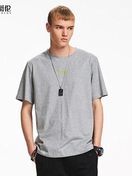 英爵伦男装品牌2020春夏100%棉休闲短袖 T恤青年半截袖上衣潮