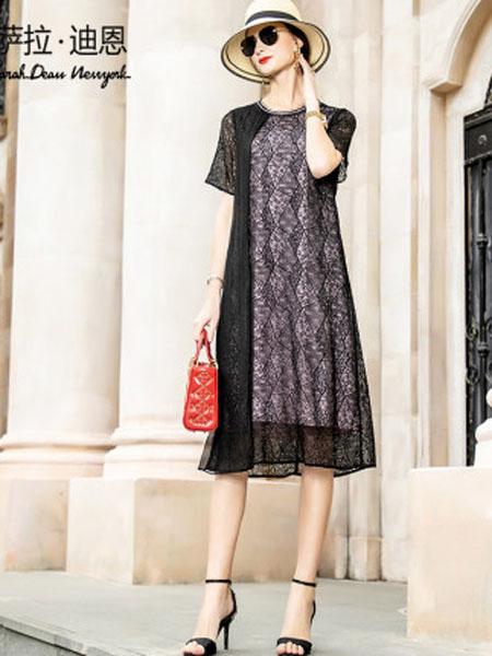 萨拉迪恩女装品牌2020春夏短袖女高档洋气中长款宽松