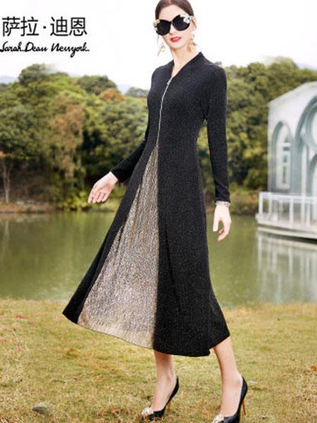 萨拉迪恩女装品牌2020春夏时尚优雅遮肚子贵夫人连衣裙女中年妈妈洋气长款