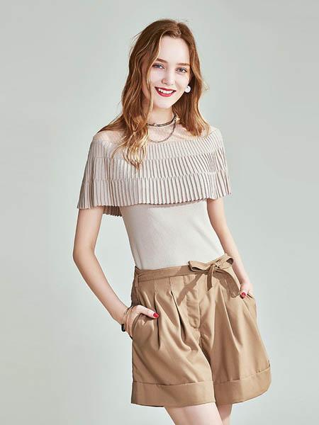 HAVVA女装品牌2020春夏时尚一字领针织短袖