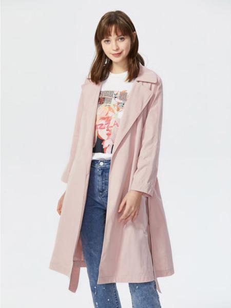 莱茵女装品牌2020春夏流行薄款chic经典大衣韩版气质仙女中长款过膝风衣外