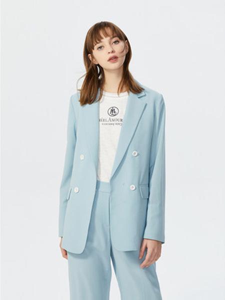 莱茵女装品牌2020春夏休闲薄款气质西装小个子设计感赫本风西服外套女