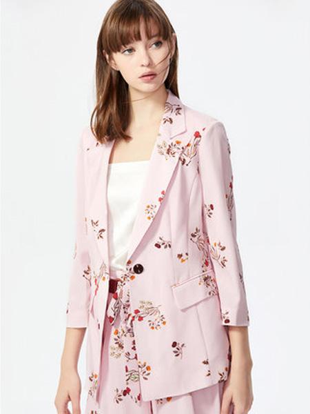 莱茵女装品牌2020春夏韩版宽松休闲浪漫印花气质短外套女