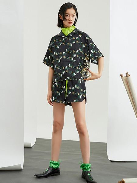 ICY女装品牌2020春夏休闲运动短衣短裤