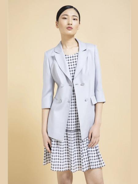 杰克林女装品牌2020春夏灰色西装外套