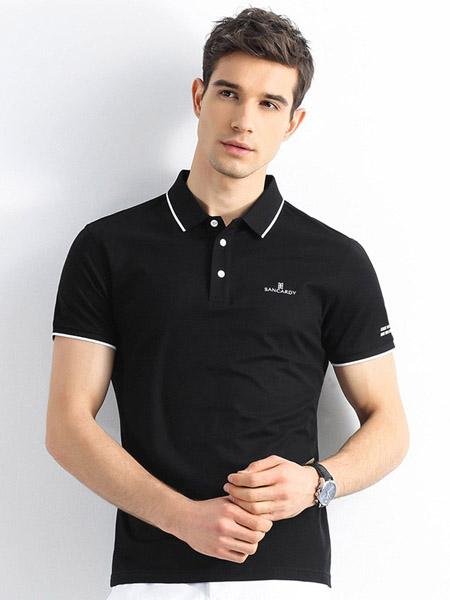圣吉卡丹男装品牌2020春夏纯棉商务男士polo衫短袖