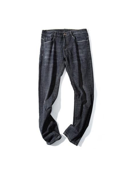 翡翠男装品牌2020春夏新品时髦潮流设计直筒宽松弹力牛仔裤