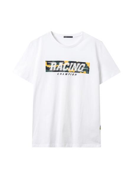 翡翠男装品牌2020春夏印花短袖T恤韩版休闲体恤潮流男生