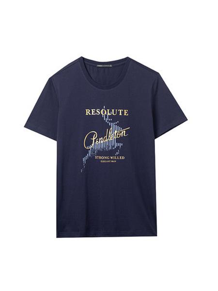 翡翠男装品牌2020春夏短袖T恤男纯棉宽松帅气潮流动物印花体恤