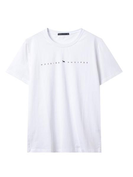 翡翠男装品牌2020春夏纯色简约休闲圆领t恤男夏季白色打底衫短袖上衣