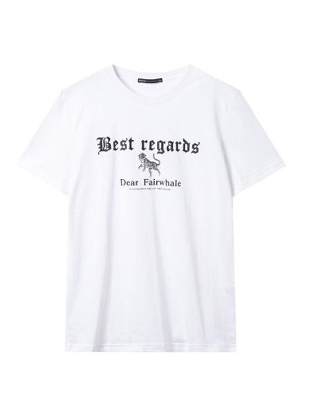 翡翠男装品牌2020春夏短袖宽松字母印花2020夏季新款潮流青年体恤