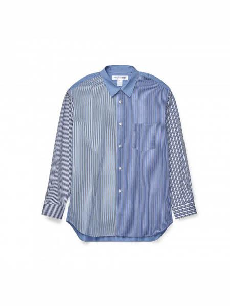 Comme des Garcons国际品牌拼接款纯棉衬衫