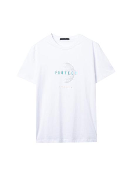 翡翠男装品牌2020春夏新款简约白色短袖T恤男韩版纯棉微弹打底衫潮