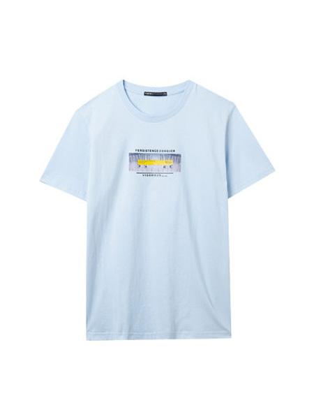 翡翠男装品牌2020春夏短袖T恤男夏季打底衫纯棉体恤韩版衣服青年半袖潮