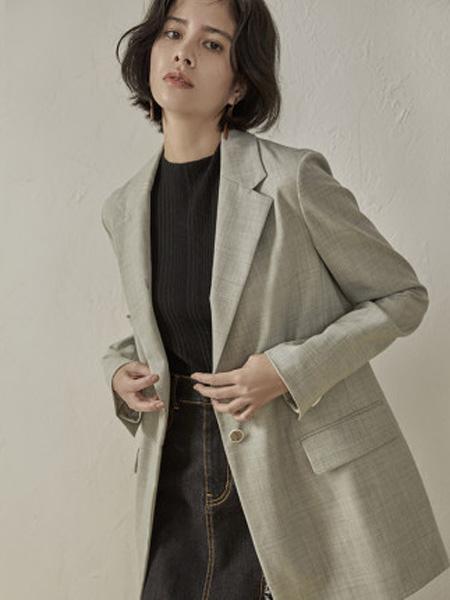 子苞米女装品牌2020春夏一粒扣西装绵羊毛女外套
