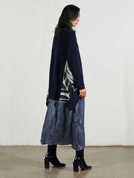 子苞米女装品牌2020春夏纯棉套头拼接针织衫宽松套头衫