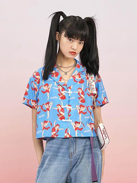 UNIFEE女装品牌2020春夏花色衬衫短袖