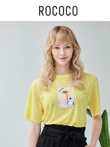 洛可可女装品牌2020春夏搞怪短袖t恤女士圆领时尚百搭上衣