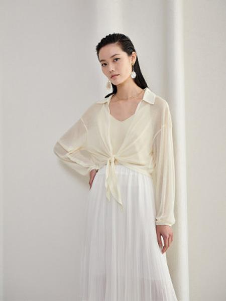 洛可可女装品牌2020春夏polo领短款外套女宽松长袖开衫上衣