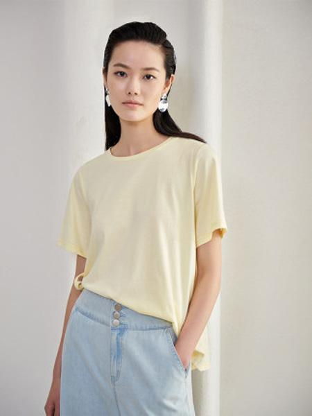 洛可可女装品牌2020春夏系带短袖T恤女宽松内搭上衣打底衫