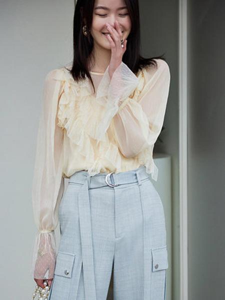 洛可可女装品牌2020春夏设计感两件套雪纺衫女甜美上衣