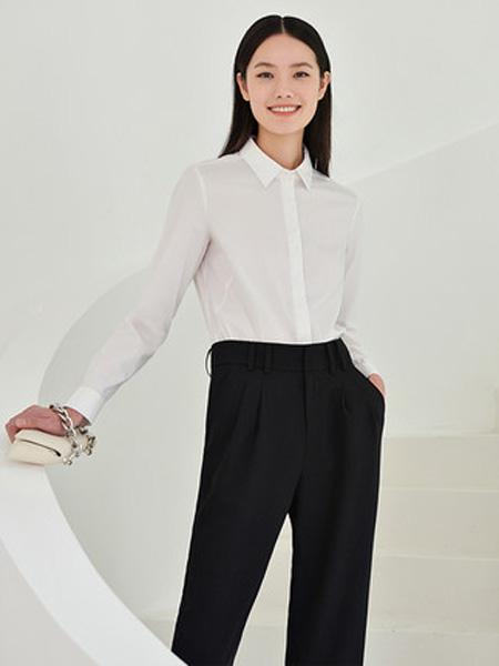 洛可可女装品牌2020春夏白色衬衫女外穿百搭
