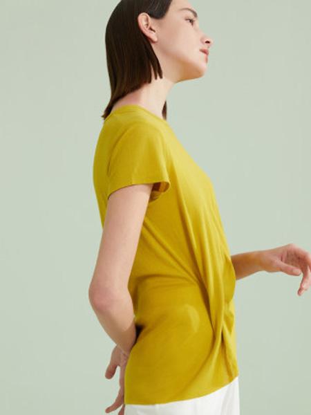 NEIWAI内外内衣品牌2020春夏垂坠T恤不规则下摆解构美感女棉质打底内搭春夏薄款