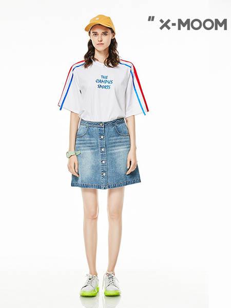 x-moom女装品牌2020春夏显瘦纯棉印花T恤