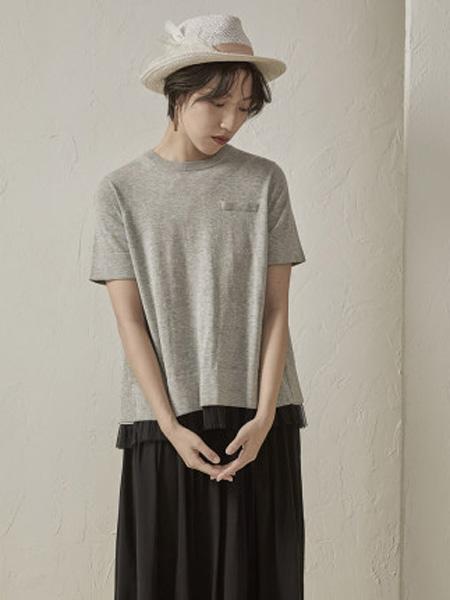 子苞米女装品牌2020春夏简约休闲短款薄款毛针织衫女