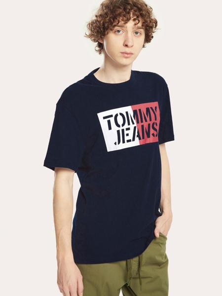 Tommy Hilfiger国际品牌圆领纯棉短袖