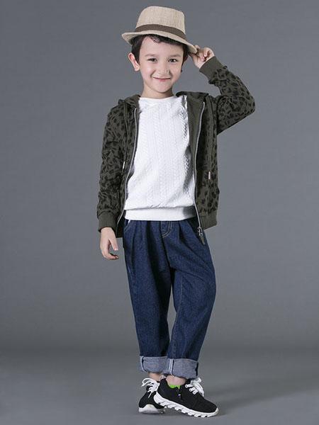 宾果童话童装品牌2020秋冬军绿色外套
