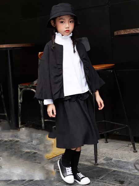宾果童话童装品牌2020春夏黑色外套短裙