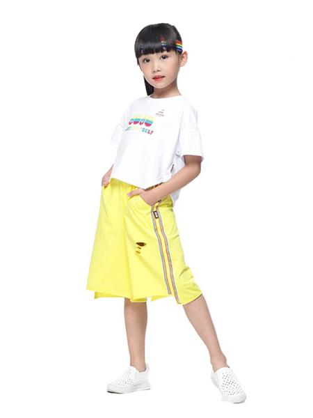 宾果童话童装品牌2020春夏白色T恤