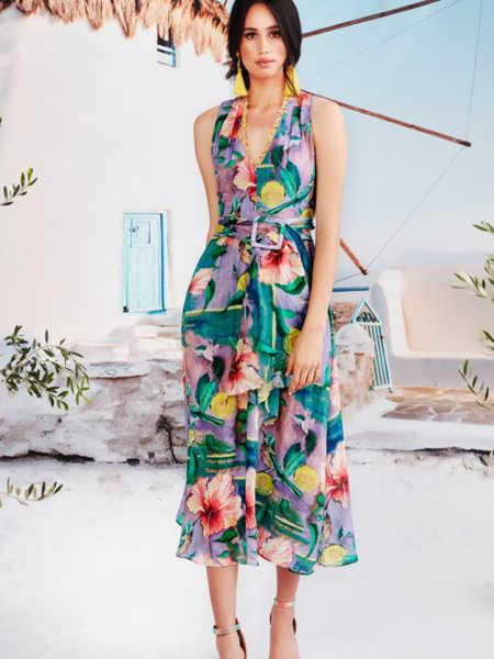Trelise Cooper国际品牌海滩度假风吊带裙