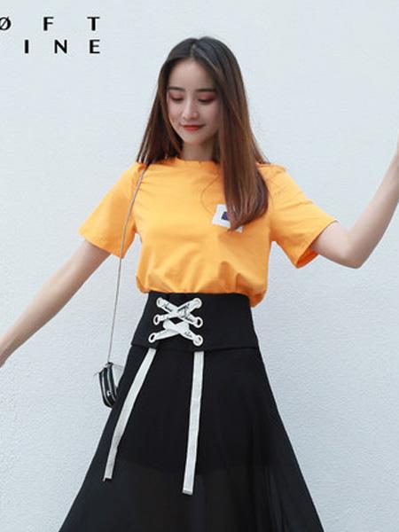 LOFT SHINE女装品牌2020春夏圆领休闲宽松T恤
