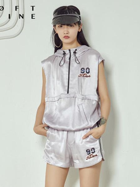 LOFT SHINE女装品牌2020春夏无袖运动连帽上衣